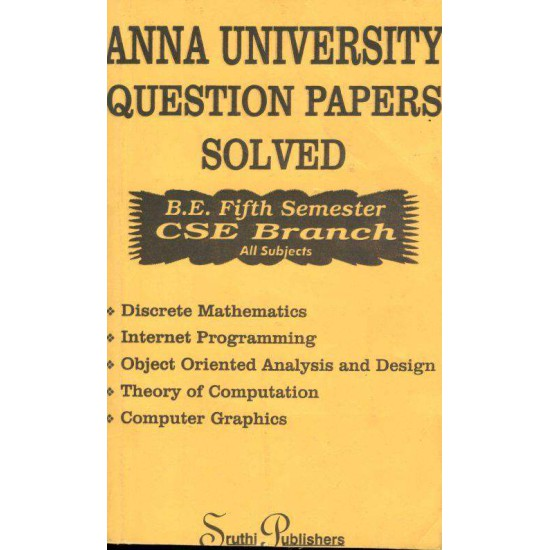 Anna University Solved Question Papers - CSE - 5th Sem