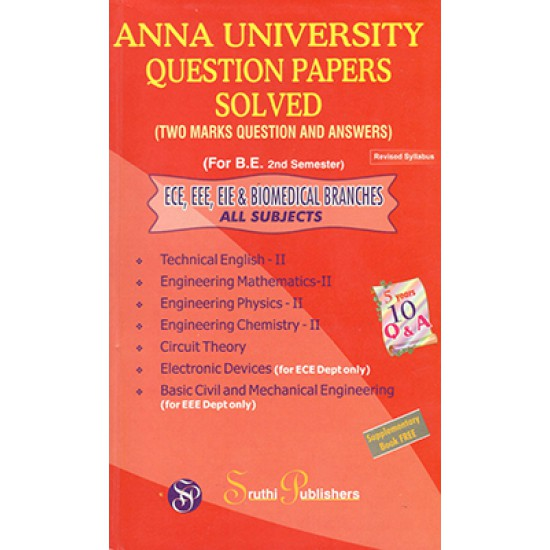 Anna University Solved Question Papers - EEE- 2nd Sem