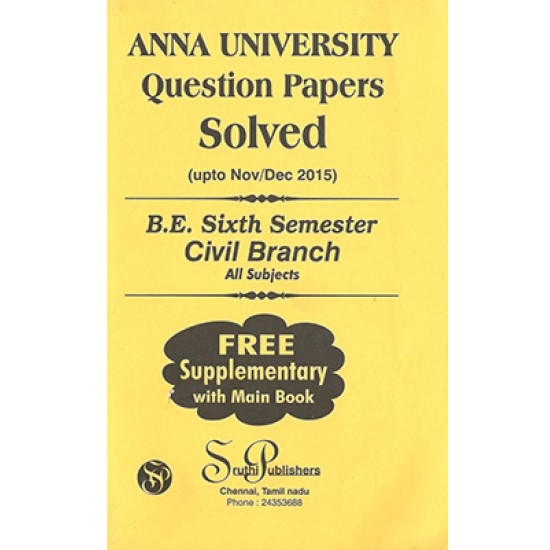 Anna University Solved Question Papers - Civil 6th Sem
