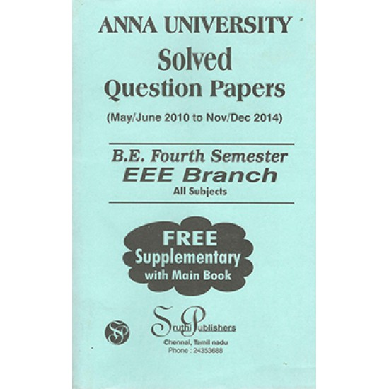 Anna University Solved Question Papers - EEE 4th Sem