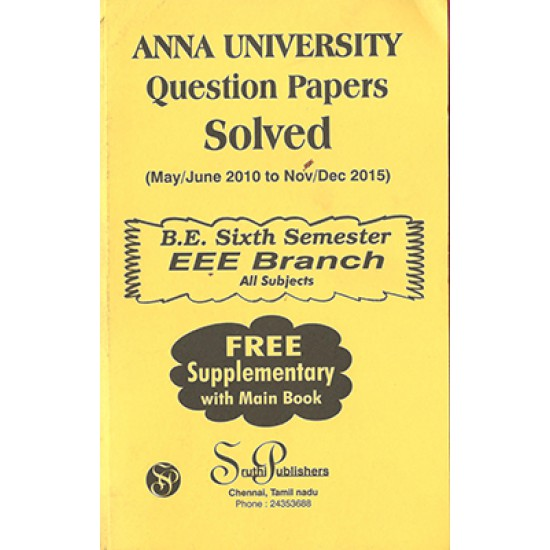 Anna University Solved Question Papers - EEE 6th Sem