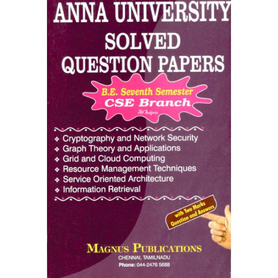 Anna University Solved Question Papers - CSE 7th Sem