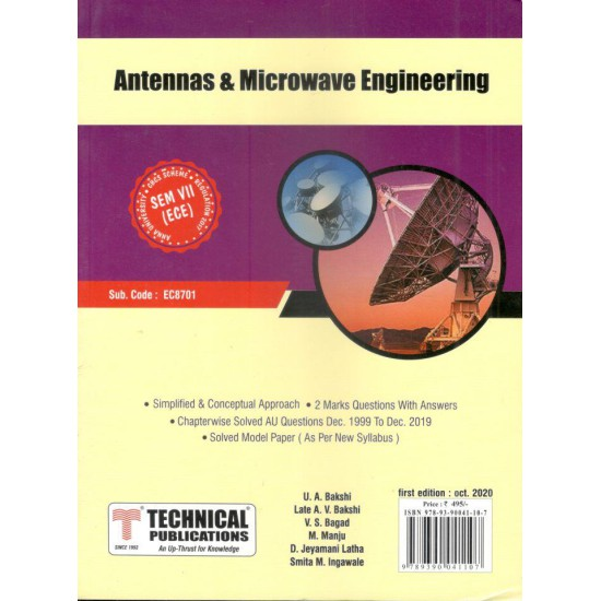 Antennas and Microwave Engineering
