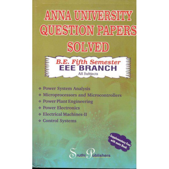 Anna University Solved Question Papers - EEE 5th Sem